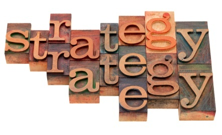 strategy word abstract